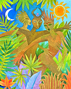 Rainforest Paintings - Three Jumbies by Jennifer Baird