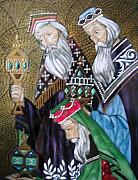 Hand-painted Ceramics Originals - Three Kings - Byzantine  by Consuelo Gonima