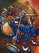 Jazz Artwork Painting Originals - Three Kings by Daryl Price