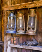 Lanterns Photos - Three Lanterns and a Shoe by Joe  Palermo