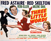 Skelton Posters - Three Little Words, Fred Astaire, Red Poster by Everett
