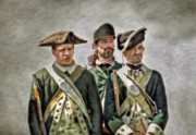 Loyalist Prints - Three Loyalist Soldiers Portrait American Revolution Print by Randy Steele