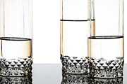 Glasses Reflecting Prints - Three luxury glasses Print by Dmitry Malyshev