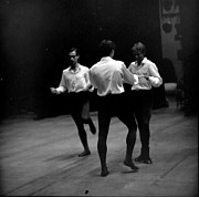 Ballet Dancers Photo Prints - Three Male  Dancers Print by Jesse Gerstein