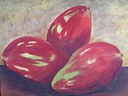 Mangos Paintings - Three Mangos by Jeanie Watson