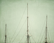 Historic Ship Prints - Three Masts Print by Lisa Russo