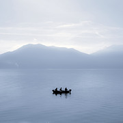 Motor Metal Prints - Three men in a boat Metal Print by Joana Kruse