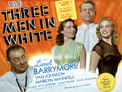 Ev-in Prints - Three Men In White, Lionel Barrymore Print by Everett