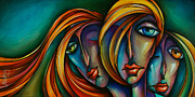 Hair Styles Framed Prints - Three Framed Print by Michael Lang