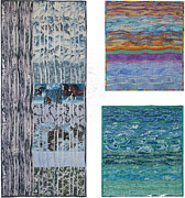 Quilts Tapestries - Textiles - Three Movements by Salli McQuaid