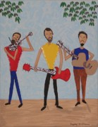Three Musicians Print by Gregory Davis