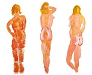 Sizes Painting Prints - Three Naked Ladies Print by Simon Bratt Photography