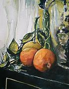 Aleksandra Buha - Three Oranges on Black