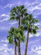 Three Palms Print by Lisa Reinhardt