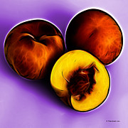 Three Peaches - Violet Print by James Ahn