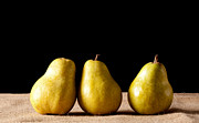 Still Image Prints - Three Pears Print by Catherine Lau