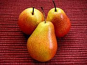 Pears Digital Art Originals - Three Pears by Lucyna A M Green