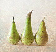 Textured Photography Framed Prints - Three Pears Framed Print by Peter Chadwick LRPS