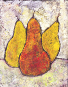 Fruit Still Life Originals - Three Pears by Wayne Potrafka