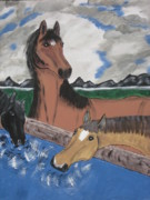 Quarter Horses Originals - Three Pretty Horses. by Jeffrey Koss