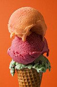 Eating Photo Prints - Three scoops  Print by Garry Gay
