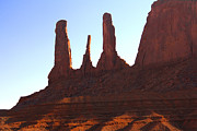 Pillars Prints - Three Sisters - Monument Valley Print by Mike McGlothlen