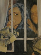 Sisters Paintings - Three Sisters at war by Roberta Voss