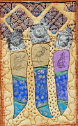 Cards Tapestries - Textiles - Three Sisters by Jude Ongley-Mowris