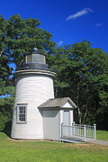 Cape Cod Metal Prints - Three Sisters Lighthouse Cape Cod Metal Print by John Burk