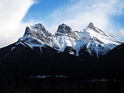 Alberta Rocky Mountains Prints - Three Sisters Print by Steve Parr