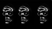 Human Head Digital Art - Three Skulls by David Lee Thompson