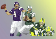 Bret Prints - Three Stages of Bret Favre Print by Thomas J Herring