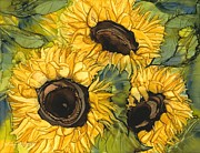 Lisa  Marsing - Three Sunflowers
