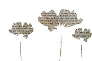Silhouettes Mixed Media Prints - Three Tell A Story Print by Angelina Vick