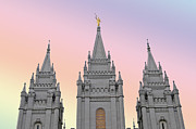 Three Tower Salt Lake City Print by Maria isabel Villamonte