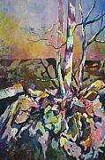 Impressionistic Landscape Paintings - Three Trees by Marlene Gremillion