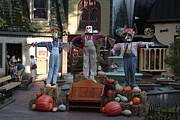 Gatlinburg Prints - Three Unique Scarecrows Print by Eduardo Marquez