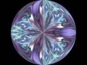 Three Violet Petals Print by Yvette Pichette