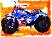 Mini Mixed Media Prints - Three Wheels of Fun Print by Russell Pierce
