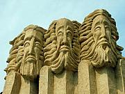 Beards Photo Prints - Three Wise Men 1 Print by Ellen Henneke