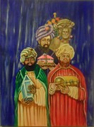 Epiphany Paintings - Three Wise Men by Estrella Rivera
