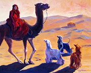 Afghan Hound Framed Prints - Three Wise Men Framed Print by Terry  Chacon