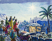Nativity Painting Prints - Three Wise Men Print by Unknown