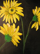 Kathleen Othon - Three Yellow Daisys