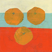 Clementines Prints - Threes Print by Laurie Breen