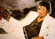 King Of Pop. Dancer Paintings - Thrilled by Thriller - Michael Jackson by Cyndi Brewer
