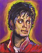 Michael Jackson Metal Prints - Thriller Metal Print by Buffalo Bonker
