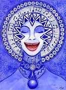Creativity Metal Prints - Throat Chakra Metal Print by Catherine G McElroy