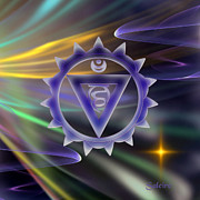 (zazzle) Digital Art - Throat Chakra by Saleires Art