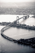 Aerial View Framed Prints - Throgs-neck Bridge - Nyc Framed Print by Original photography by Neos Design - Cory Eastman